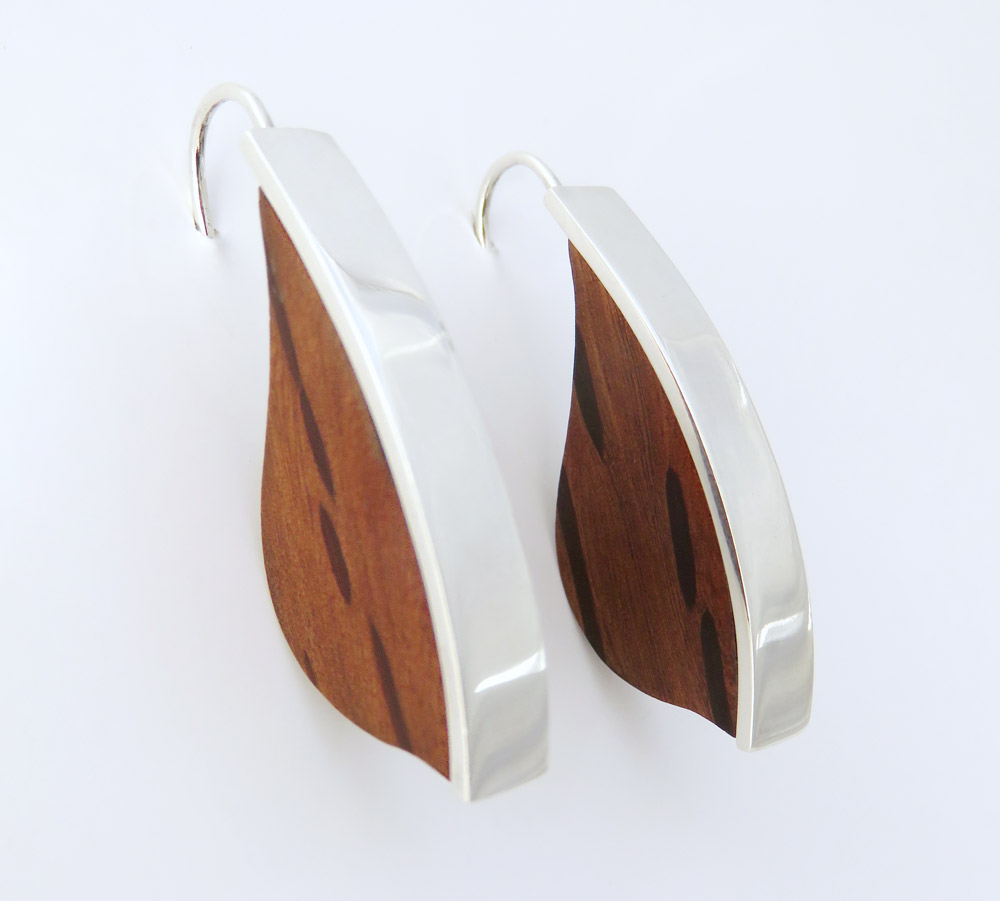 Silky oak leaf earrings