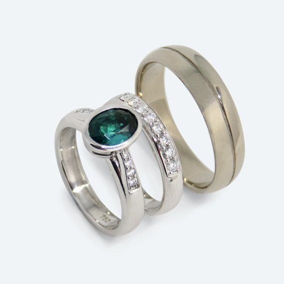 Tourmaline & Wedding bands