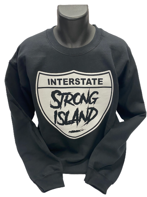 OFFICIAL STRONG ISLAND INTERSTATE HOODY - BLACK CREW