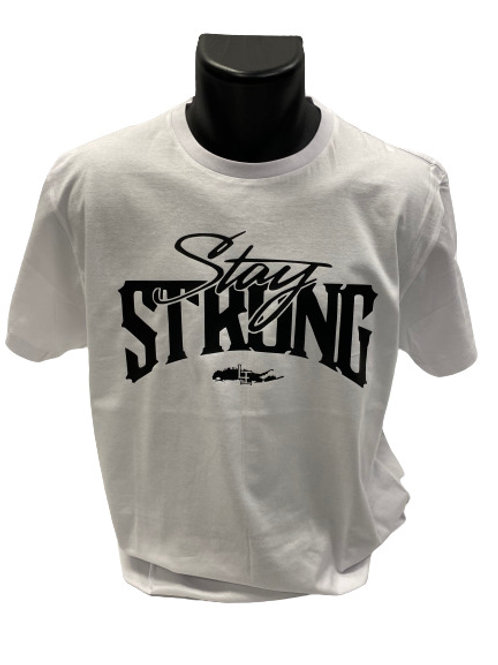 STAY STRONG T-SHIRTS - WHITE