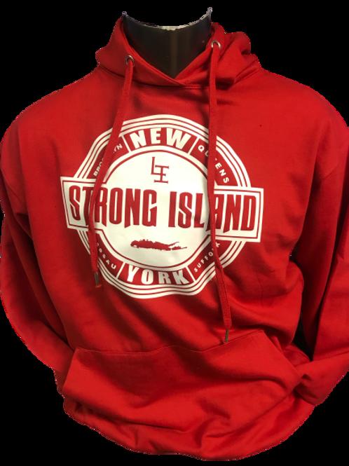 OFFICIAL INTERSTATE LONG ISLAND HOODYS ( RED ) MATT P