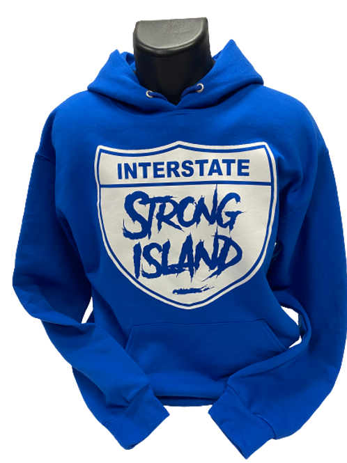 OFFICIAL STRONG ISLAND INTERSTATE HOODY - ROYAL