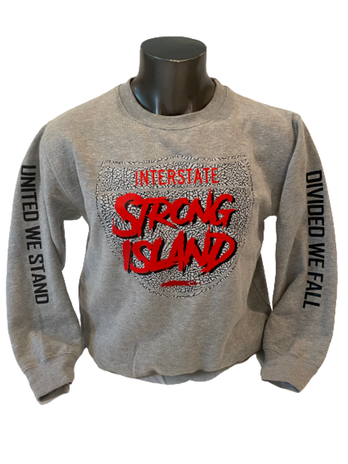 EXCLUSIVE OFFICIAL STRONG ISLAND INTERSTATE HOODY - ROYAL BLUE
