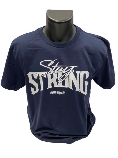 STAY STRONG T-SHIRTS - NAVY