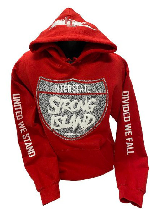EXCLUSIVE OFFICIAL STRONG ISLAND INTERSTATE HOODY - RED