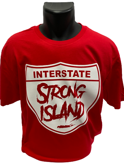 STRONG ISLAND T-SHIRTS red