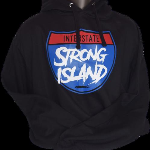 OFFICIAL INTERSTATE LONG ISLAND HOODYS ( BLACK ) MATT PRINT