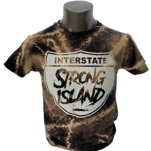 STRONG ISLAND VINTAGE T-Shirts - BLACK