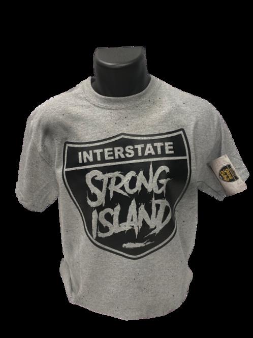 STRONG ISLAND VINTAGE T-Shirts -grey