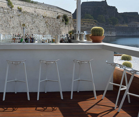 The deck, Nautical Club, Corfu