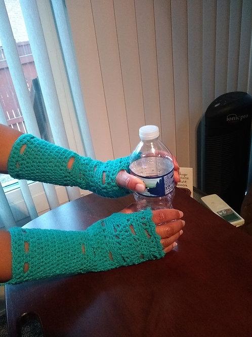 Fingerless Gloves Turquoise