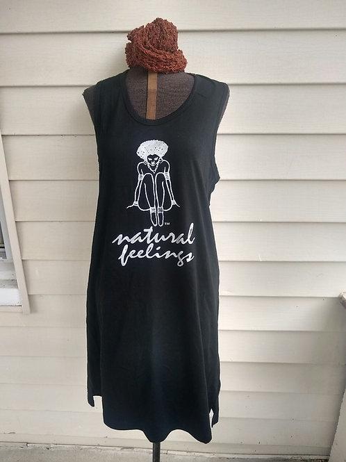 Black all Cotton tank dress