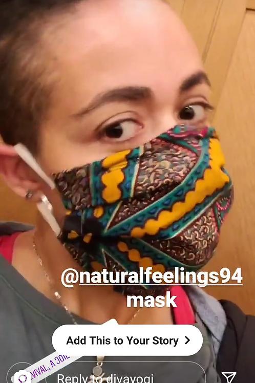 Mask #1G Orangish Print