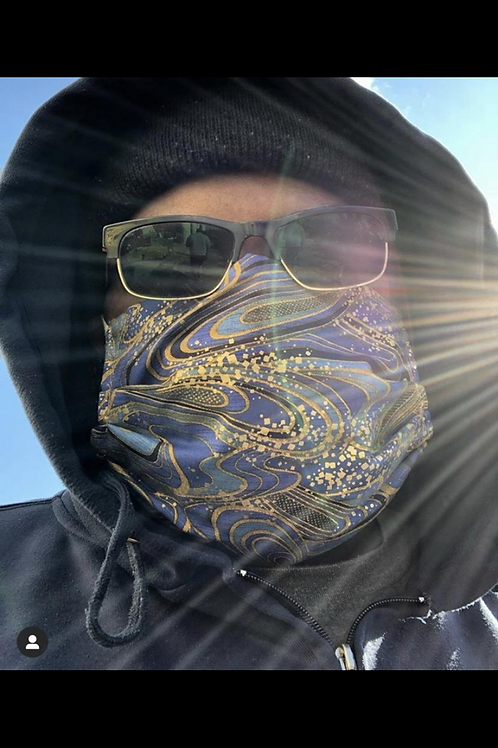Mask #1F Blue/gold Genie