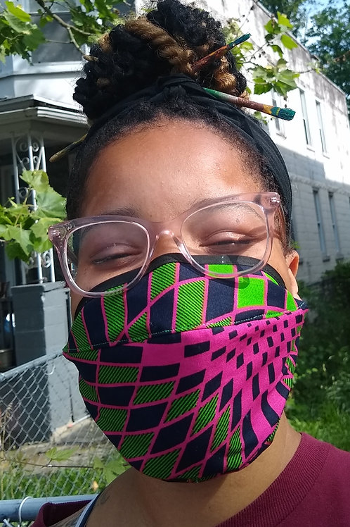Mask #3 Style M pink/green