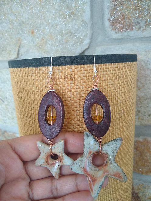 Leather/Stone mixed matched stars