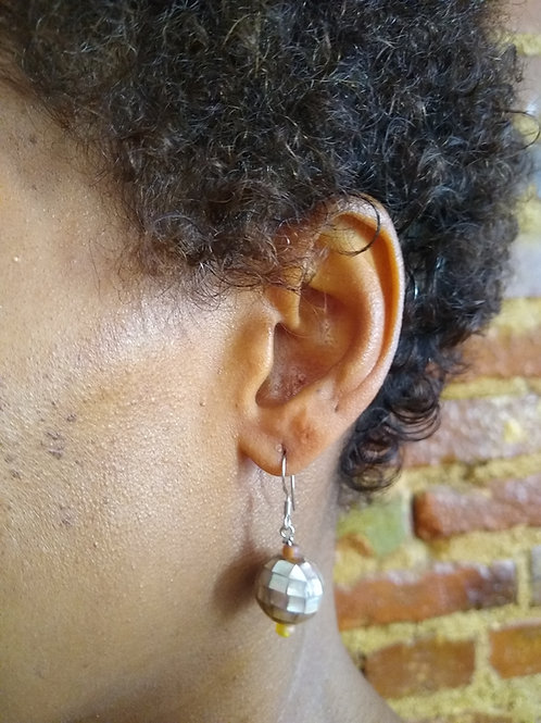 Disco shell mosaics earrings