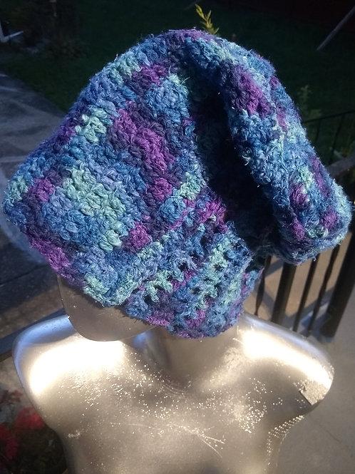 Multi blue/purple cotton hat