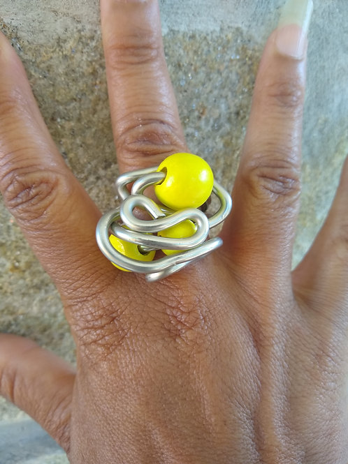 Yellow Wood Ring