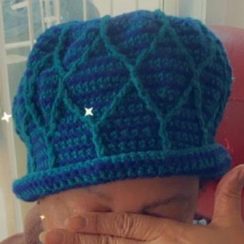 Textured crown blue/teal