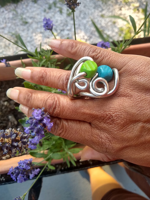Ring blue/green