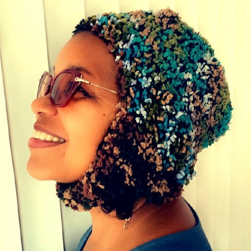 Boucle crocheted hat