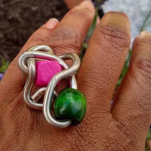 Ring pink/green