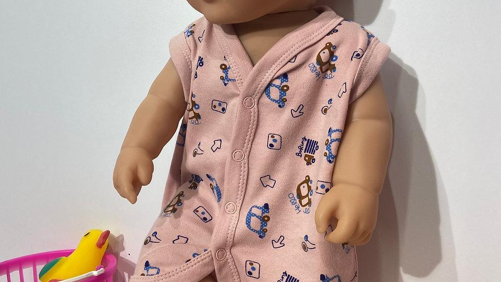 Pinok Baby Cotton Front Open Sleeve-Less Vest Tees Jhabala