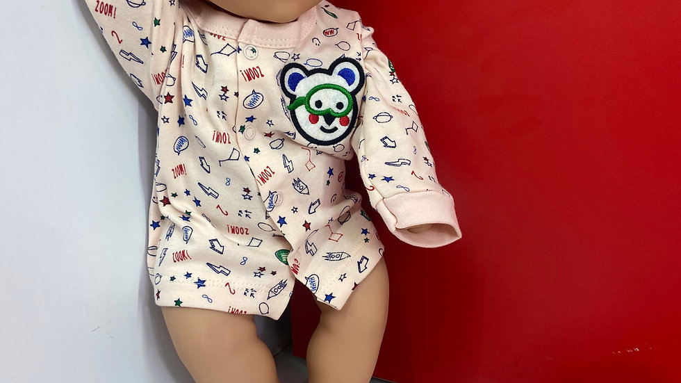 PINOK Soft Cotton Full Sleeve Jhabla for New Born Baby Boys and Baby Girls