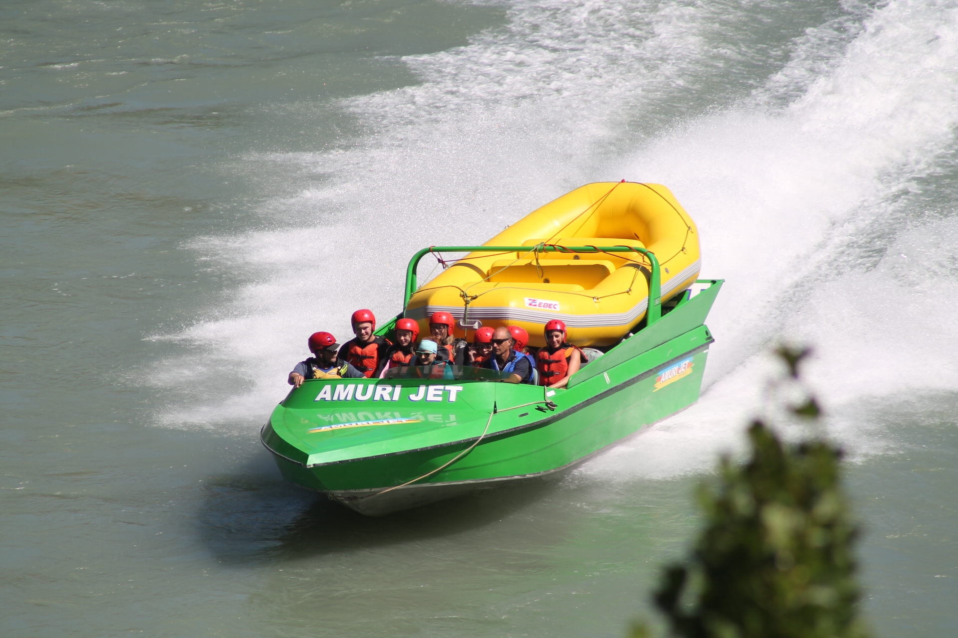 Return Jetboat ride Rafting