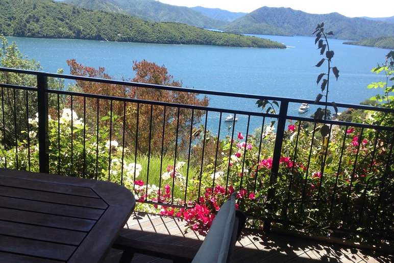 Tranquil views from Allports Apartment picton