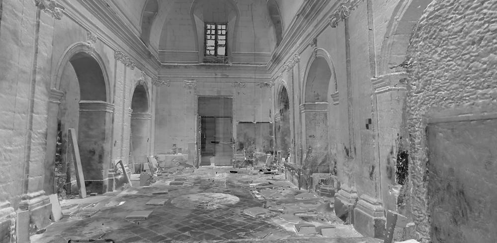 Meshing intérieur de la chapel