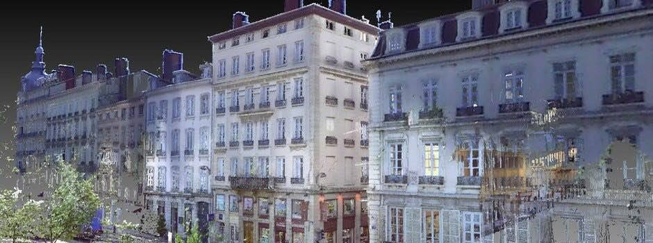 Relevé de façades Place Bellecour