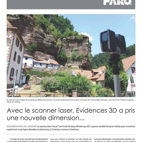 Cas d'application Faro et Evidences 3D