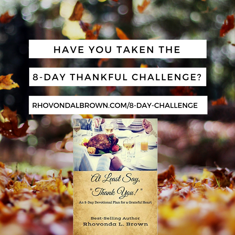 Take the 8-Day Thankful Challenge