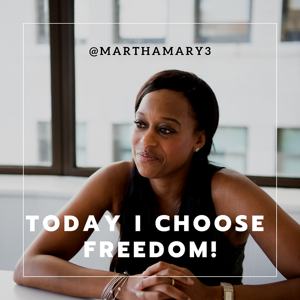 Today i choose freedom!