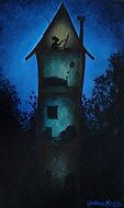 Huile sur toile, peinture, Garance Monziès, maison, création, grenier, solitude, atelier,