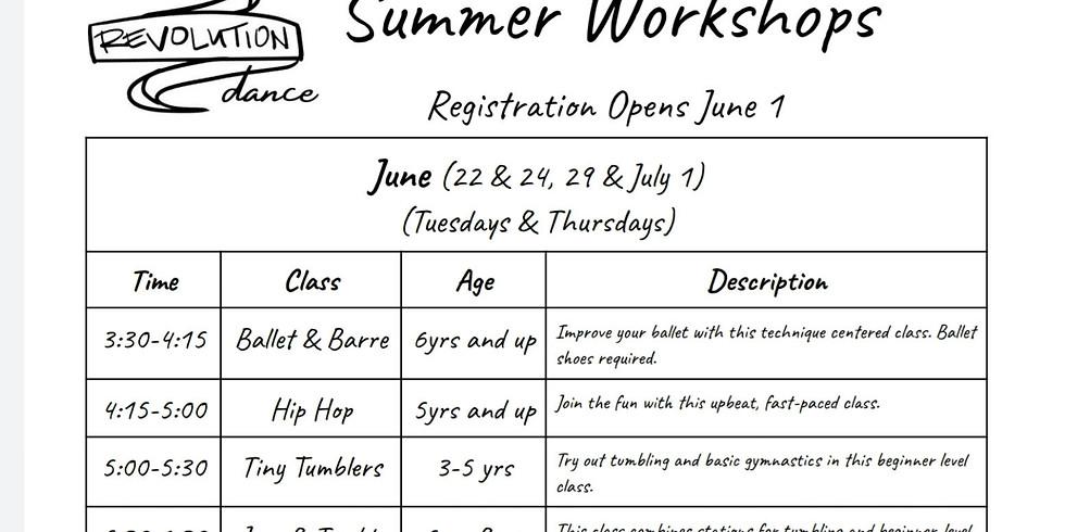 June Summer Workshops