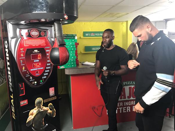 Boxing Simulator hire, arcade boxing machine, punch ball hire