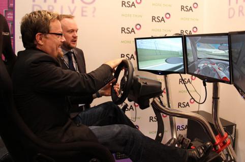 Eddi Izzard on Driving Simulator
