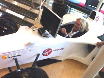 White F1 Simulator