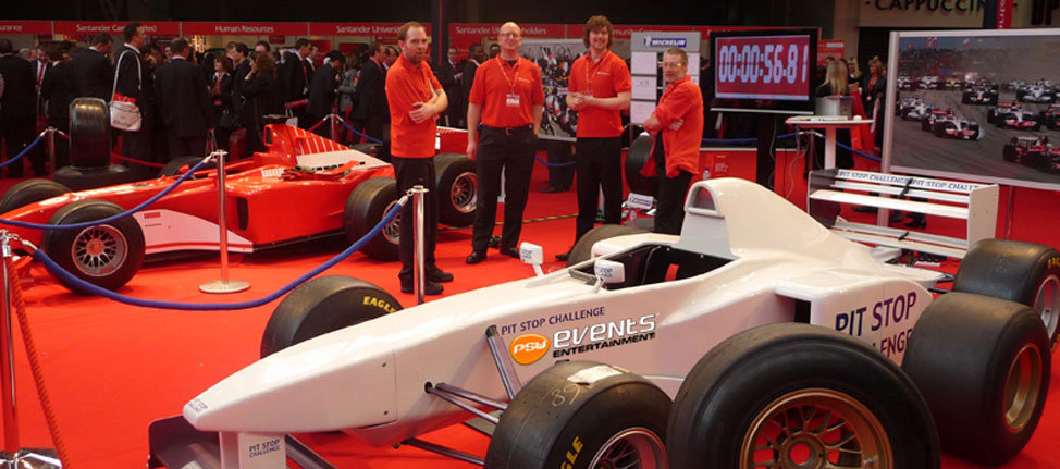 F1 Pitsop Challenge display at an event