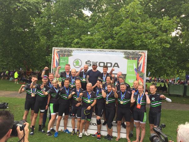 PSW Events, Ride London, Cycle Simulator hire, Team Skoda