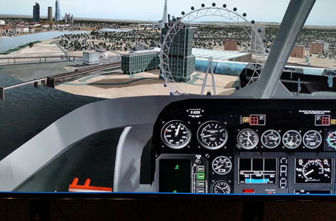 Cockpit of Helicopter Simulator