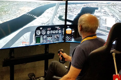 Motion Flight Simulator Screen