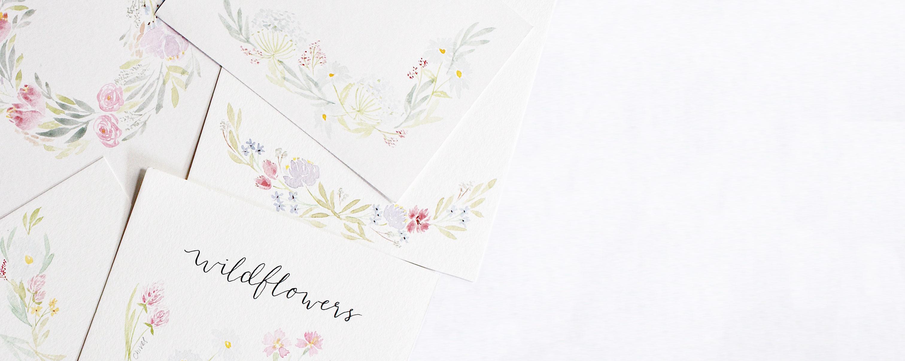 Watercolour Wildflowers