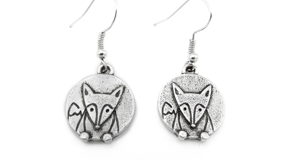 LILO Collections- Fox Disc Earrings