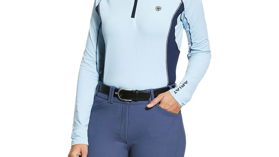 Ariat Tri Factor 1/4 Zip Baselayer - Cashmere Blue