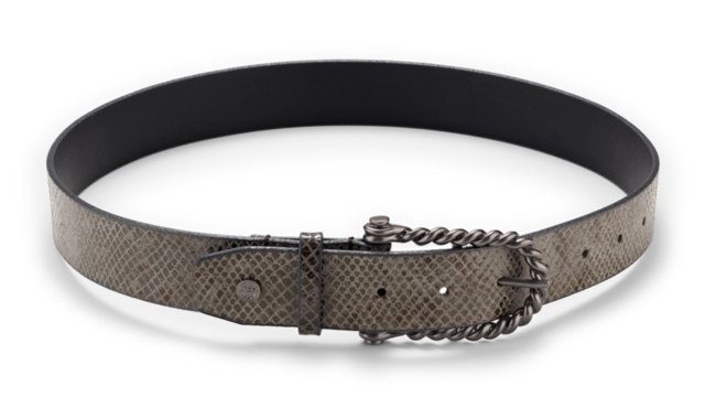Hannah Childs Bit Python Belt