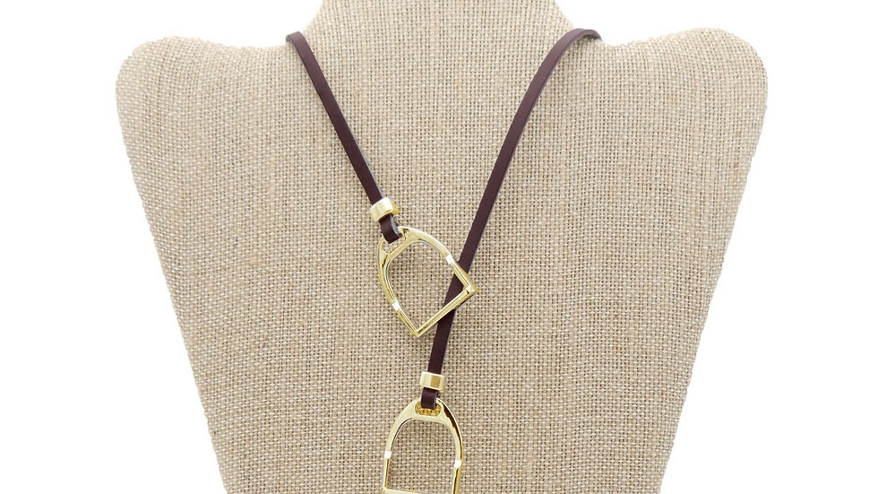 "LILO Collections ""Sally"" Stirrup Leather LoopNecklace"